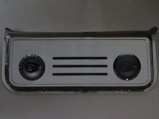 バックドアスピーカーボード&スピーカーセット[未塗装/黒ゲル]<br>ジムニーJB23W/33W/43W