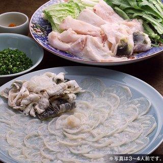 【唐揚付】養殖ふく刺・ちり鍋セット (3〜4人前)