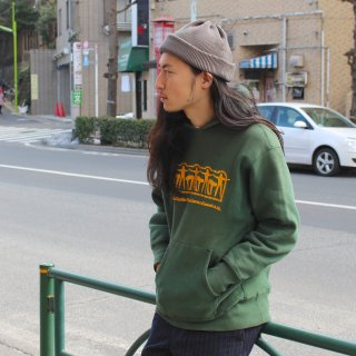 70s CHAMPION REVERSE WEAVE HOODIE ''GREEN'' RW007