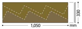 W-98(高さ40mm/Rあり) サンゲツ 巾木 カラー巾木