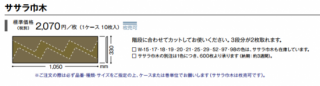 W-15〜W-98 サンゲツ ササラ巾木