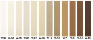 W-15〜W-98【75mm/Rあり/50m巻】 サンゲツ カラー巾木