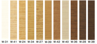 W-24〜W-39【100mm/Rあり】 サンゲツ 木目調(オーク)巾木