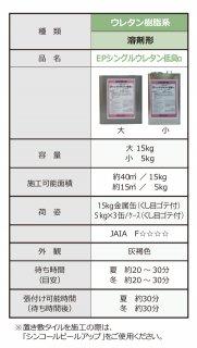 EPシングルウレタン低臭α(15kg缶) シンコール 接着剤