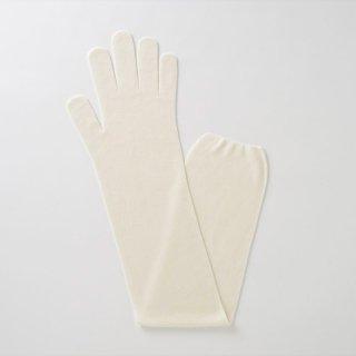 無縫製ガーゼロング手袋L