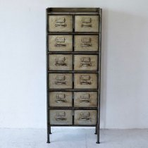 GUIDEL 12 DRAWERS CHEST SILVER (ギデル 12 ドロワーズ チェスト シルバー)/JSF