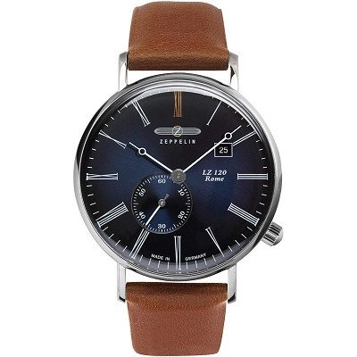 ツェッペリン腕時計/7134-3 / LZ120 ローマ /ブルーダイヤル/ブラウンレザー