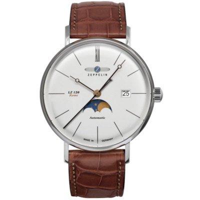 【2018年新作】ツェッペリン腕時計/7108‐4/ LZ120 ローマ /ホワイトダイヤル/ブラウンレザー