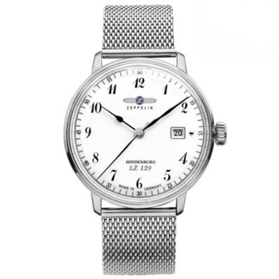 ツェッペリン腕時計/ヒンデンブルク/7046M-1/ホワイトダイヤル/シルバーミラネーゼブレス/ステンレススティール/デイト