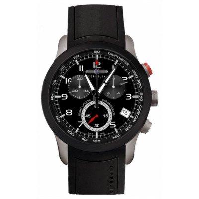 ツェッペリン腕時計/ナイトクルーズ/7292-2/ブラックダイヤル/ブラックラバー/夜光機能/クロノグラフ/デイト